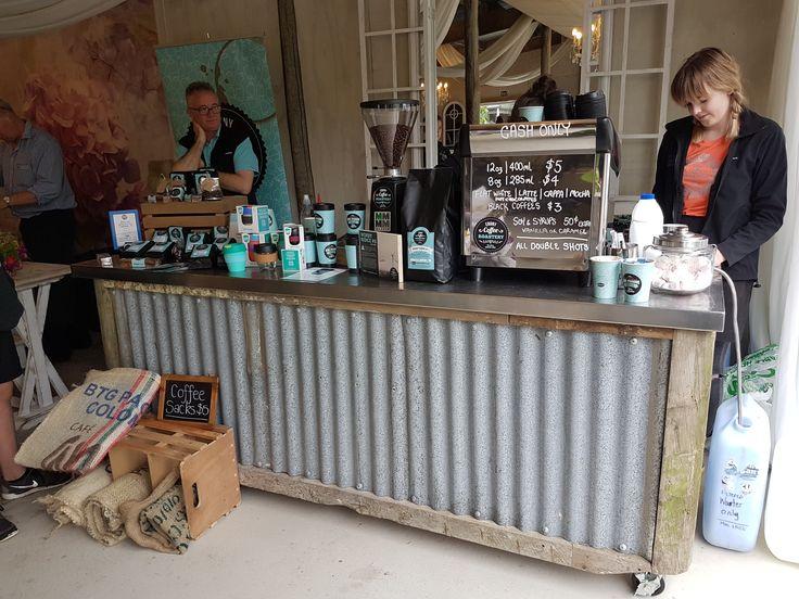 Rustic bar on wheels for Caroline's Creative Interiors wedding venue