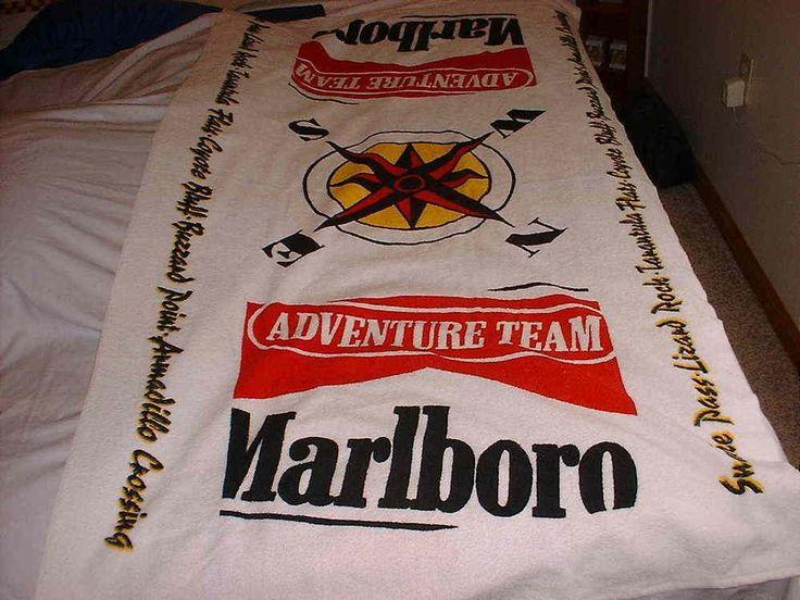 "MARLBORO Cigarette Oversize 66"" X 37"" Bath Beach Towel Ad Promo NWOT Made In USA #SouthernTerryInc"