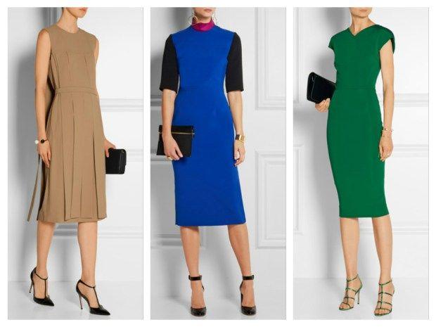 Элегантный стиль - лаконичные платья в модных цветах сезона