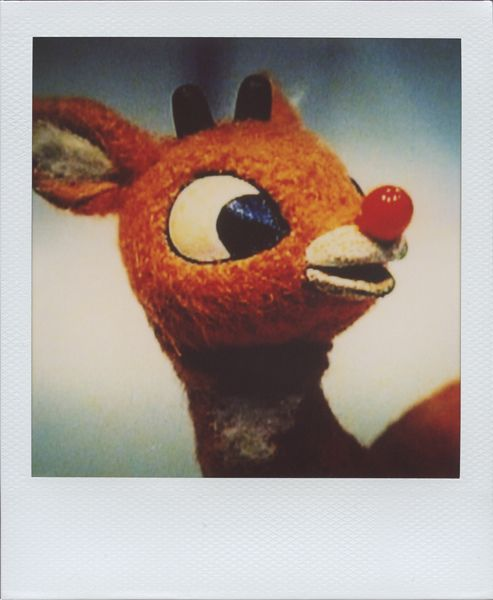 Rudolph the Red Nosed Reindeer Polaroid by Neato Coolville, via Flickr
