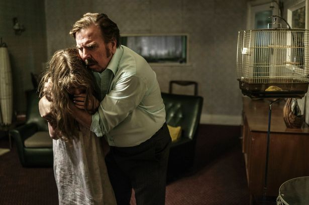 HAUNTING ON MOVIE SET! Timothy Spall in The Enfield Haunting. Actors filming a poltergeist drama were left terrified when a ghost caused havoc on set.  The drama, named The Enfield Haunting, looks at the real-life events from the 1970s when the Hodgson family from North London were targeted by an evil force, which sent furniture flying around and even possessed their 11-year-old daughter Janet.  Recordings and photographs from the time see Janet taken over by the spirit, speaking in a harsh…
