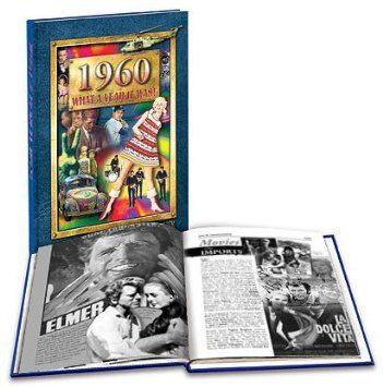 1960 What a Year It Was Book – Nostalgic 50th Birthday Present or 50th Wedding Anniversary Gift