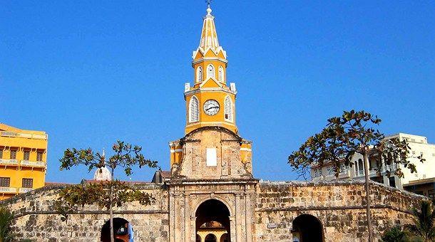 Torre del Reloj in Cartagena de Indias, Colombia.