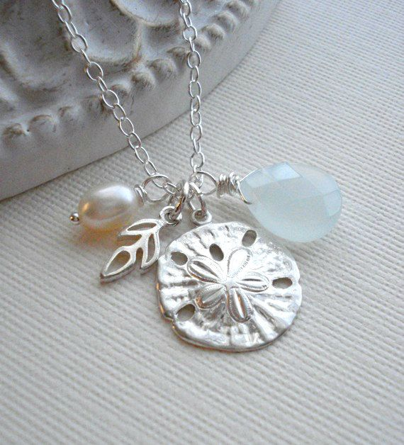 Sand Dollar Necklace In Sterling Silver. by AnechkasJewelry, $38.50