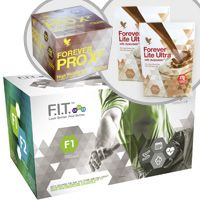 Forever F.I.T. 1 will teach you how the change the way you think about food and exercise and provide you with the knowledge you need to get inspired and change your body for the better!   Your F.I.T. 1 pack includes: Aloe Vera Gel® – 4X – 1 liter bottles Forever Lite Ultra Shake® – 2 Chocolate pouches Forever Therm™ – 60 tablets Forever Fiber™ – 30 sticks Forever Garcinia Plus® – 70 softgels Forever PRO X²™ High Protein Bars – 10 Chocolate Bars