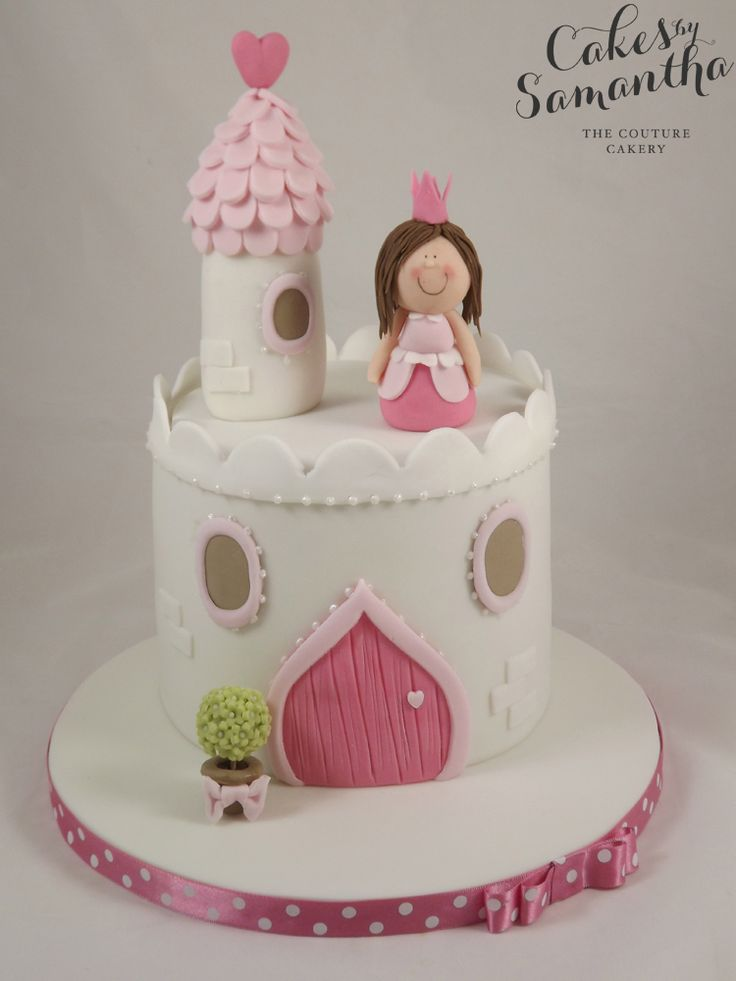 Cake Inspiration - 1 Tier, Round, Princess, Castle, Fairytale, Pretty