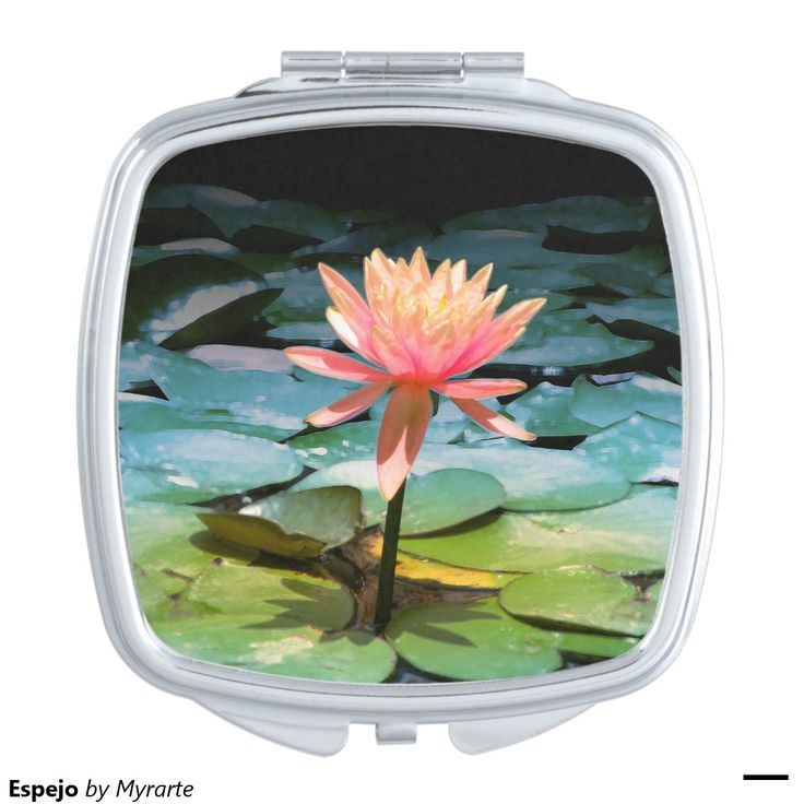 Espejo Mirror For Makeup. Producto disponible en tienda Zazzle. Product available in Zazzle store. Regalos, Gifts. Link to product: http://www.zazzle.com/espejo_mirror_for_makeup-256191439433458380?CMPN=shareicon&lang=en&social=true&rf=238167879144476949 #espejo #mirror #flores #loto #lotus #flowers