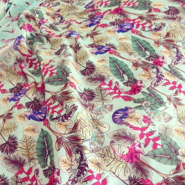 Chameleon Print, sarong, cover ups, beachwear. Tropical mood.