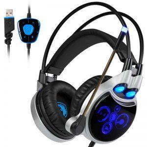 SADES R8 Virtual USB 7.1 Gaming Headset