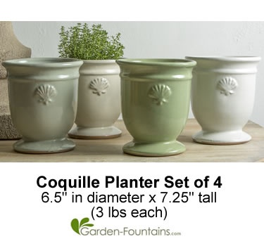 Coquille Planter, Set Of 4, One Of Each Color. Bring The Beach Into