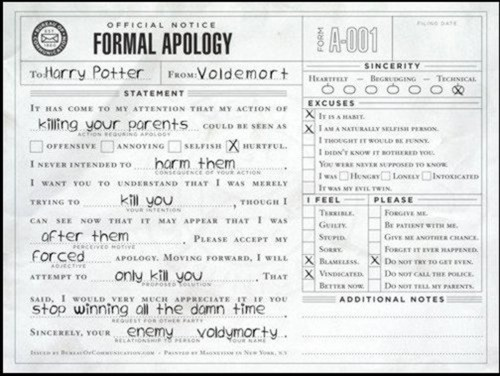 thanks for the apology