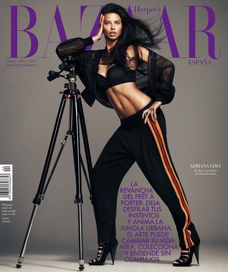 Harper's Bazaar Spain February 2014  Adrian Lima photographed by Nico