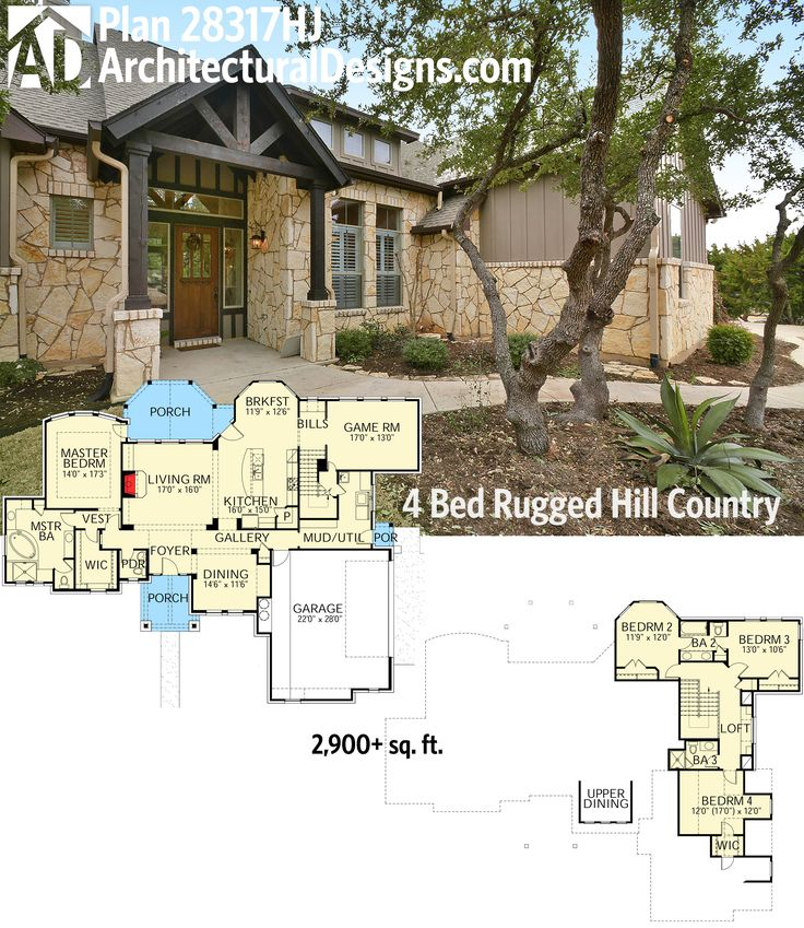 38 best hill country house plans images on pinterest | country