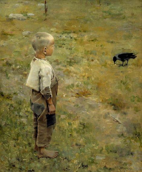 Akseli Gallen-Kallela, Boy with a Crow, 1884