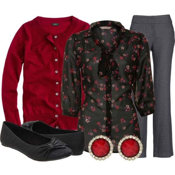 """""""Teacher, Teacher 104"""" by qtpiekelso on Polyvore; what a great work look"""