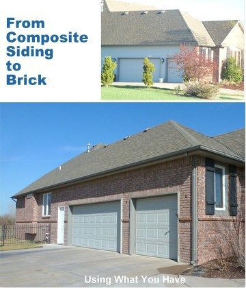 Replace Composite Siding with Brick - Using What You Have