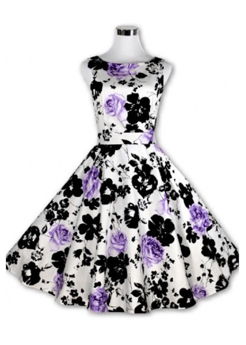 Lucille's Floral Swing Dress