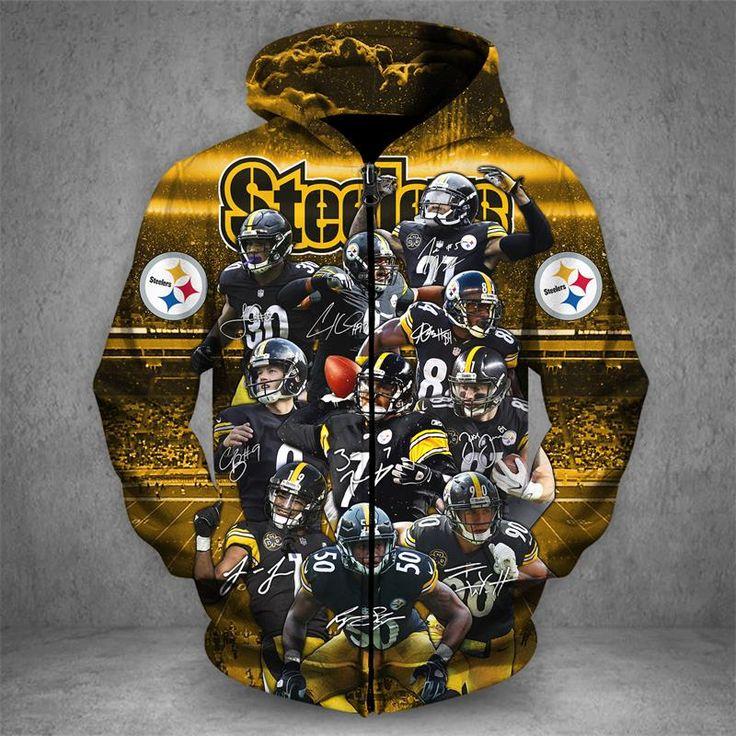 Men / Women Pittsburgh Steelers 3D Zipper Hoodie