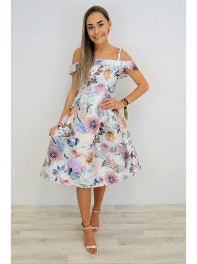 cdac6c72e26b Floral Bardot Occasion Dress - Multi