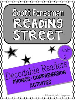 Life in First Grade: Reading Street Decodable Reader Activities