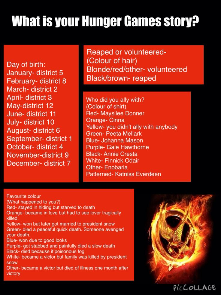 I came from district 11, I was a victor but died from an illness one month after victory, i was reaped  and i did the Hunger Games with Finnick odair