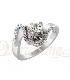 Μονόπετρo δαχτυλίδι Κ18 λευκόχρυσο με διαμάντι κοπής brilliant - MBR_096