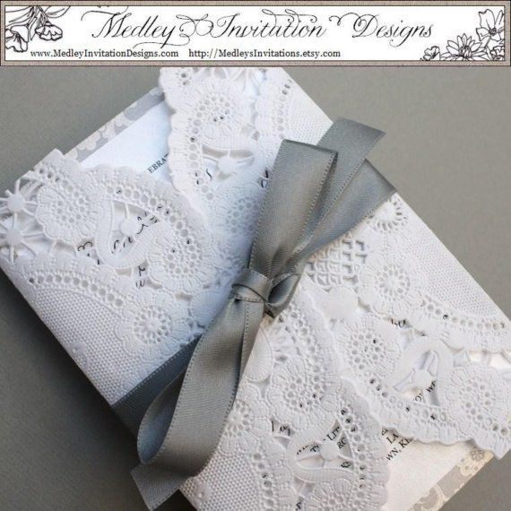 This invitation is actually wrapped in lace...........