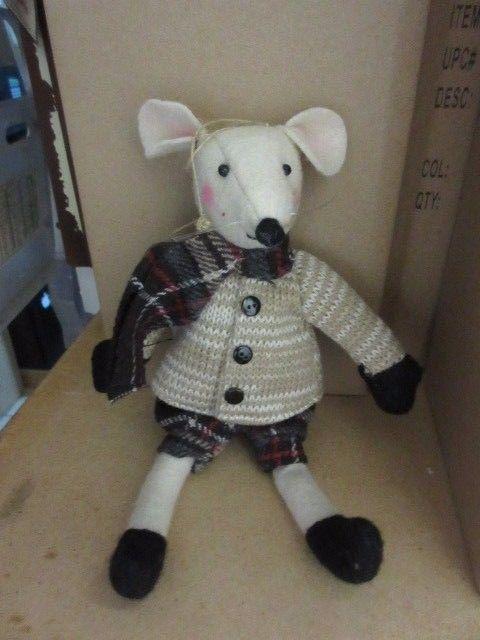 New Holiday Decor Felt *  material Christmas mouse boy figure doll ornament