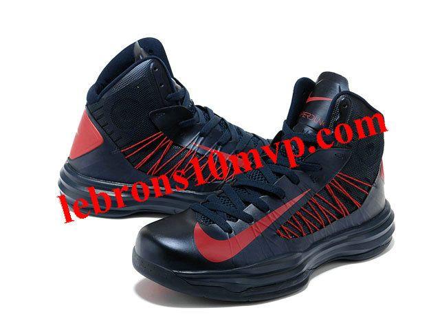 Nike Lunar Hyperdunk X 2012 James Shoes Dark/Blue/Red