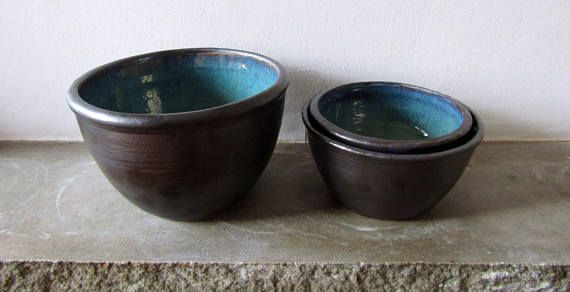 Seconds Sale: Three Piece Nesting Bowl Set  Hand Thrown