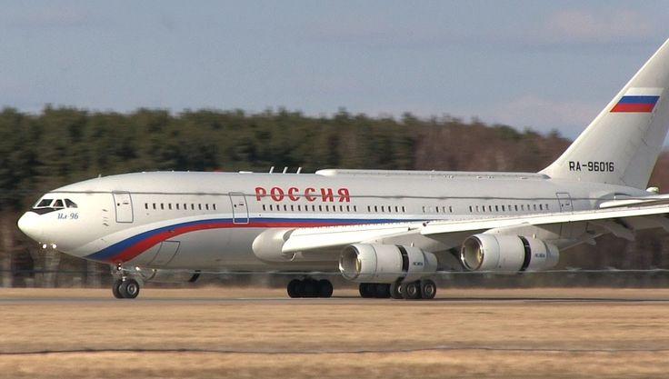 2x Ilyushin Il-96 landing with President Putin at Hannover (RA ...