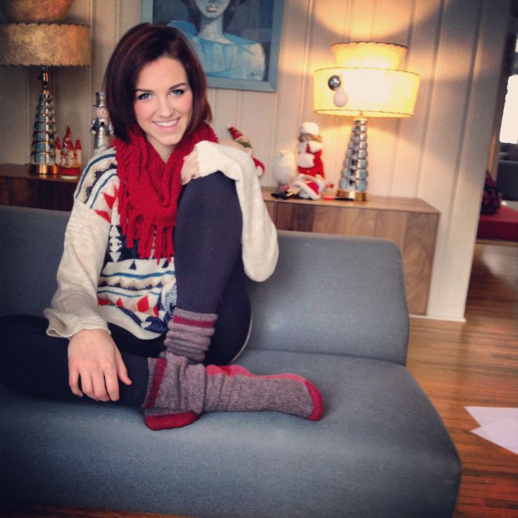 A Festive Look Of Mine Big Scarves And Cozy Socks Have