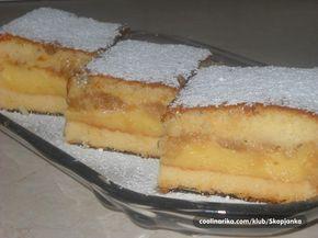 Výborná volba na přípravu jednoduchého a rychlého osvěžujícího jablečného řezu. Těsto: 4 ksvejce 1 hrnekkr. cukr 1 hrnekolej 1 hrnekmléko 2 hrnkypolohrubá mouka 1 bal.prášek do pečiva 1 bal.vanilkový cukr Náplň I: 1 lmléko 3 bal.vanilkový pudink 6 lžickr. cukr Náplň II: 1 kgnatrúhané jablka 4 lžícekr. cukr 1 bal.vanilkový cukr