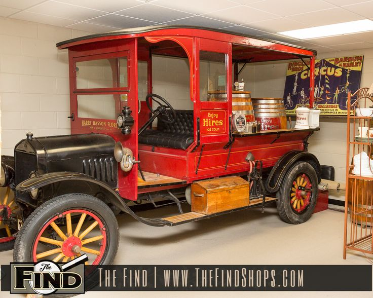 1919 Hires Root Beer Truck On Display Exclusively at The Find! A one of a kind 1919 Hires Root Beer Truck. Model TT 1 Ton Truck by Ford! The body of the truck was made specially by a carriage company for the Hires Company to hold three barrels. The truck was a working truck parked …