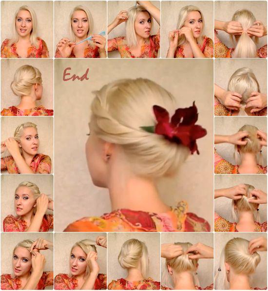 Wie eine Hochsteckfrisur für mittellanges Haar Stellen: Hochsteckfrisur For Mittellang Hair Tutorial ~ frauenfrisur.com Frisuren Inspiration