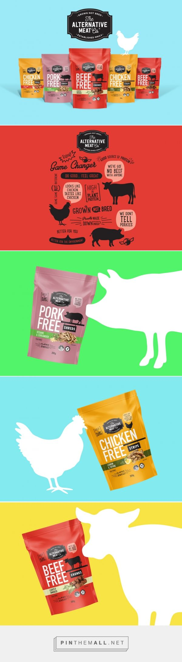 The Alternative Meat Co. - Packaging of the World - Creative Package Design Gallery - http://www.packagingoftheworld.com/2017/08/the-alternative-meat-co-flavour-range.html