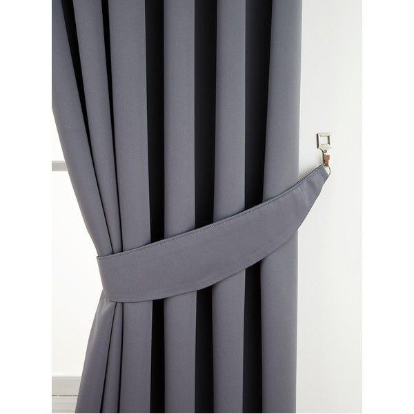 Woven Thermal Blackout Tie-Backs (Pair) ($12) ❤ liked on Polyvore featuring home, home decor, window treatments, curtains, woven curtains, thermal window coverings, thermal window treatments, polyester curtains and thermal draperies