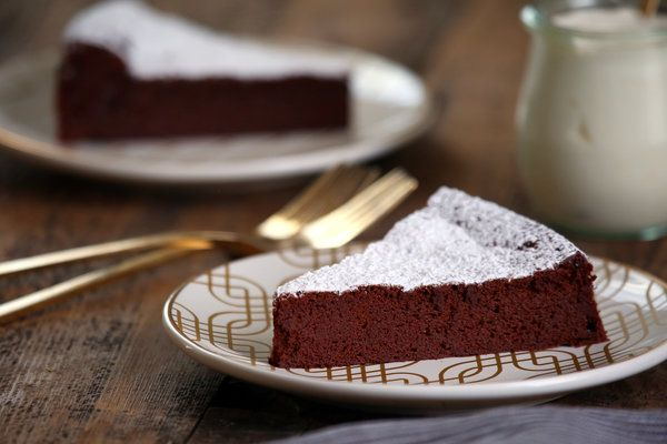 There is very little that needs to be said about a chocolate mousse cake. This one lives up to its name. It is gloriously intense. But the whisked egg whites ensure that it has a balancing lightness. (Photo: Jim Wilson/The New York Times)