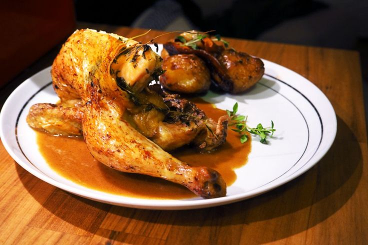 Roasted chicken with Madeira sauce