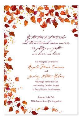 Bountiful Fall Breeze - Wedding Invitations by Invitation Consultants. (Item # IC-GD-NT-3 )