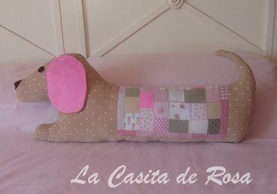 """La casita de Rosa: Filhotes cobertor com cachorro. """"Tutorial"""""""