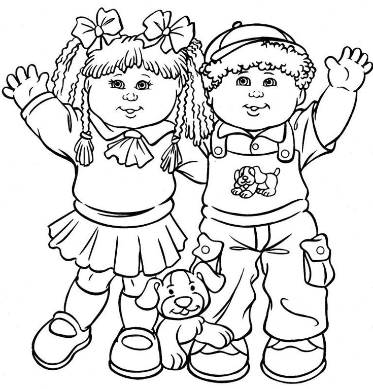 cabbage patch kids color page coloring pages for kids cartoon characters coloring pages printable coloring pages color pages kids coloring pages - Free Colouring Pages For Children