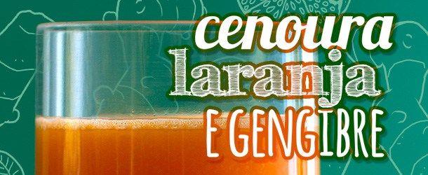 Suco de Laranja, Cenoura e Gengibre O suco de laranja com cenoura não é novidade, mas desde que acrescentei o gengibre à esta mistura, para mim, o suco ficou ainda melhor!     Ingredientes 2 xícaras (de chá) de suco de laranja natural 1 xícaras (de chá) de cenoura picadinha ou ralada 1/2 xícara (de chá)