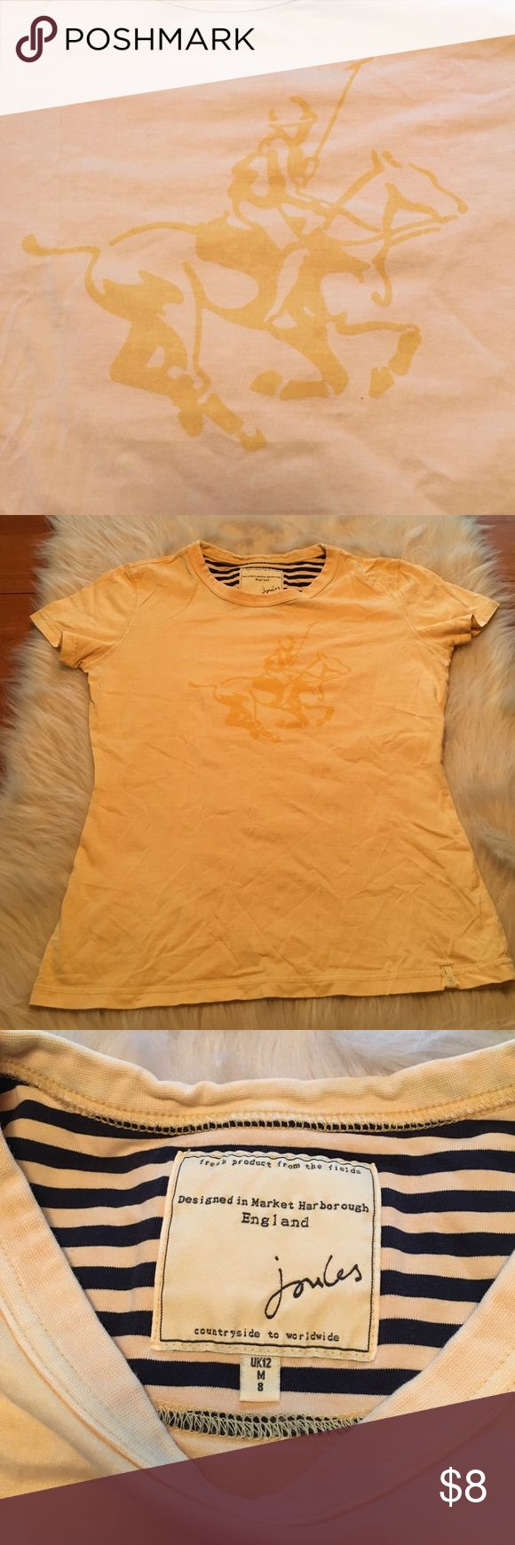 Joules shirt Pre loved joules shirt. Worn a handful of times. Still in good condition. No rips holes or stains. Made and designed in England. Polo horse on the front. Great color. Soft material. Joules Tops Tees - Short Sleeve