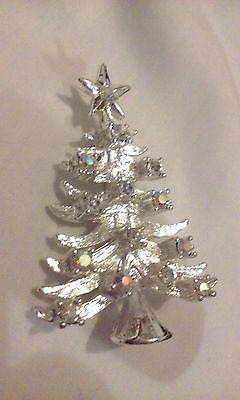 со стразами рождественской елки заколка Брошь серебристая UNBRANDED