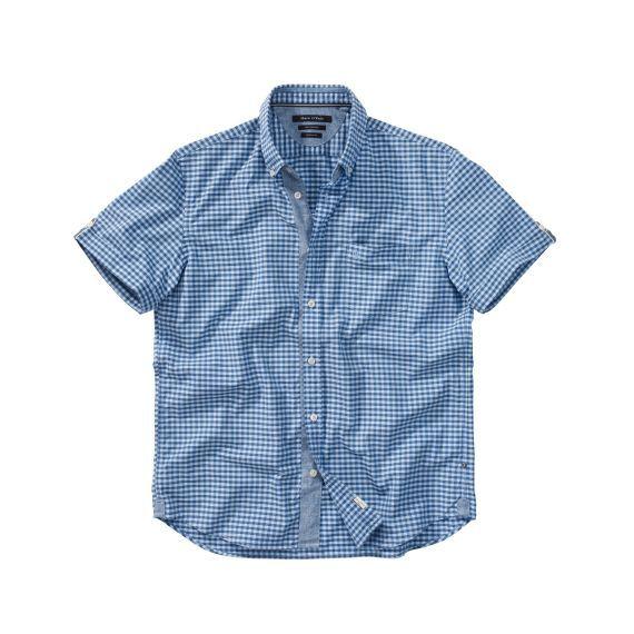 Kariertes Kurzarm-Hemd von Marc O'Polo mit Button-down-Kragen