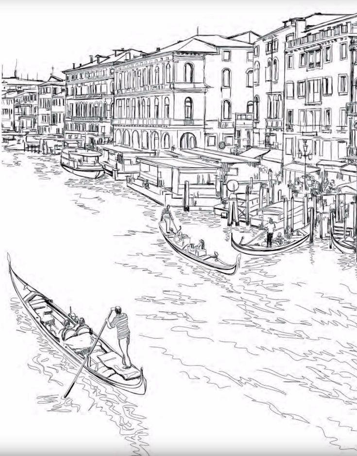 Картинки венеции карандашом