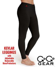 GoGo Gear Fashionable Protective Riding Jackets, Kevlar Jeans, Kevlar Leggings for Motorcycle and Scooter Riders - Have padded knees!!!