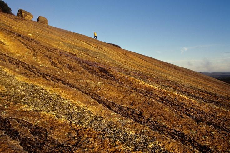Climbing Bald Rock near Tenterfield