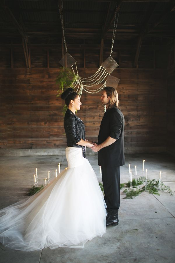 Modern contemporary meets punk rock wedding. And it works!!  Only because you mentioned canon in rock!